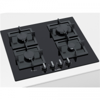 Bosch Hob PPP6A6B20 Gas, Number of burners/cooking zones 4, Black,