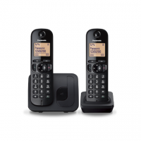 Panasonic Cordless KX-TGC212FXB Black, Built-in display, Phonebook capacity 50 entries, Speakerphone, Caller ID