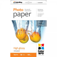 ColorWay High Glossy Photo Paper, 50 Sheets, 10x15, 180 g/m