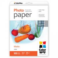 ColorWay Matte Photo Paper, 100 sheets, 10x15, 190 g/m