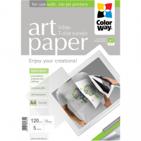 ColorWay ART Photo Paper T-shirt transfer (white), 5 sheets, A4, 120 g/m