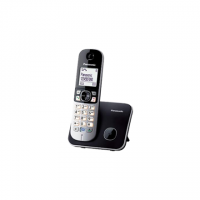 Panasonic Cordless KX-TG6811FXB Black, Caller ID, Wireless connection, Phonebook capacity 120 entries, Conference call, Built-in