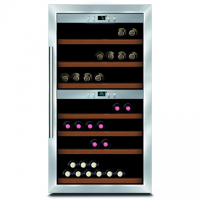 Caso Wine cooler Wine Master 66 Free standing, Showcase, Bottles capacity 66, Silver