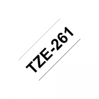 Brother TZe-261 Laminated Tape Black on White, TZe, 8 m, 3.6 cm