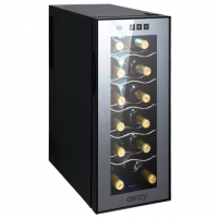 Camry Wine Cooler CR 8068, 33L, A, shelves for 12 bottles, control panel with touch buttons, emperature adjustment 12-18C, black