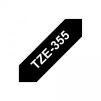 Brother TZe-355 Laminated Tape White on Black, TZe, 8 m, 2.4 cm
