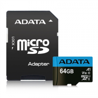 ADATA Premier UHS-I 64 GB, MicroSDXC, Flash memory class 10, Adapter