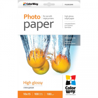 ColorWay Photo Paper 100 pc. PG1801004R Glossy, 10 x 15 cm, 180 g/m