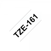 Brother TZe-161 Laminated tape Black on Clear, TZe, 8 m, 3.6 cm