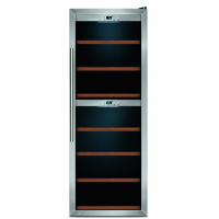 Caso Wine cooler WineComfort 126 Free standing, Big, Bottles capacity 126, Stainless steel