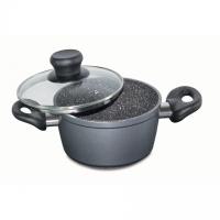 Stoneline Cooking pot 7451 1.5 L, die-cast aluminium, Grey, Lid included