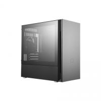 Cooler Master SILENCIO S400 with TG side panel Black, Mini ITX, Micro ATX, Power supply included Yes