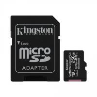 Kingston Canvas Select Plus UHS-I 256 GB, MicroSDXC, Flash memory class 10, SD Adapter