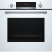 Bosch Oven HBA533BW0S Built-in, 71 L, White, Eco Clean, A, Push pull buttons, Height 60 cm, Width 60 cm, Integrated timer, Elect