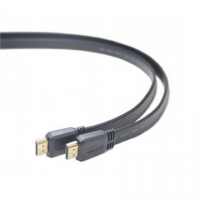 Cablexpert 3 m m, Black, HDMI male-male flat cable