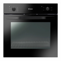 Candy Oven FCS100N/E 71 L, A, Electric, Manual, Rotary knobs, Height 60 cm, Width 60 cm, Black