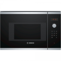 Bosch Microwave Oven BFL523MS0 20 L, Retractable, Rotary knob, Touch Control, 800 W, Stainless steel/ black, Built-in, Defrost f