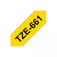 Brother TZe-661 Laminated Tape Black on Yellow, TZe, 8 m, 3.6 cm