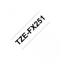 Brother TZe-FX251 Flexible ID Laminated Tape Black on White, TZe, 8 m, 2.4 cm